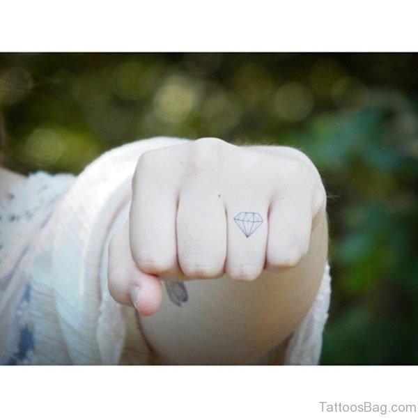 Outline Diamond Tattoo