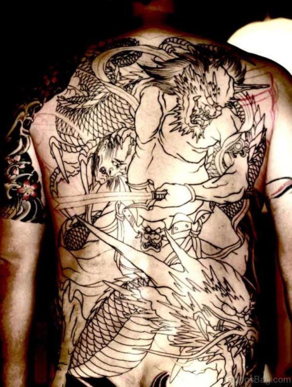 Outline Dragon Tattoo