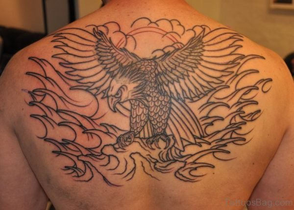 Outline Eagle Tattoo