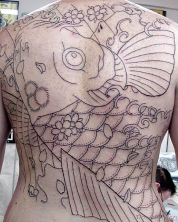 Outline Fish Tattoo