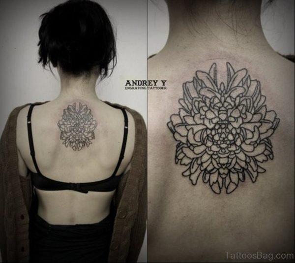 Outline Flower Tattoo Design