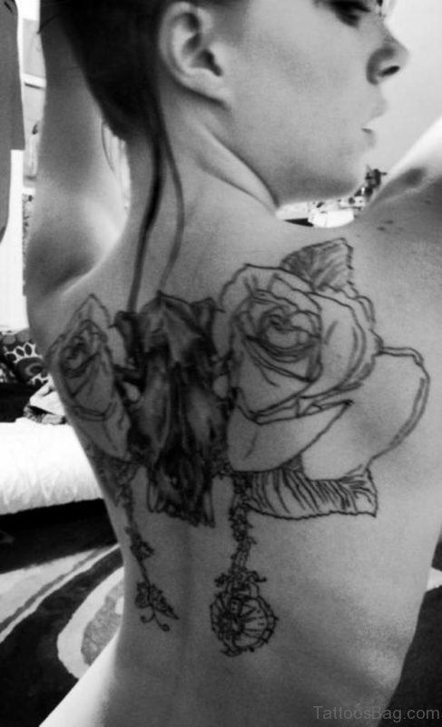 Outline Rose Tattoo