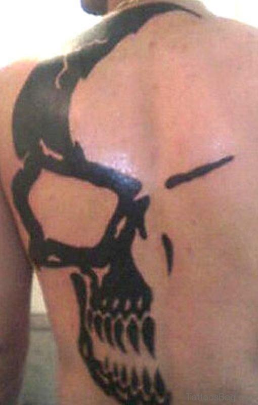 Outline Skull Tattoo