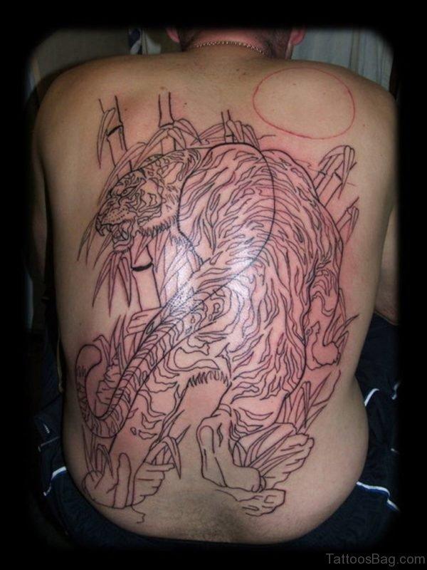 Outline Tiger Tattoo