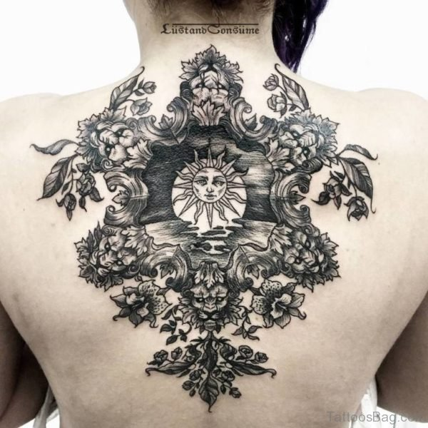 Outstanding Sun Tattoo Design
