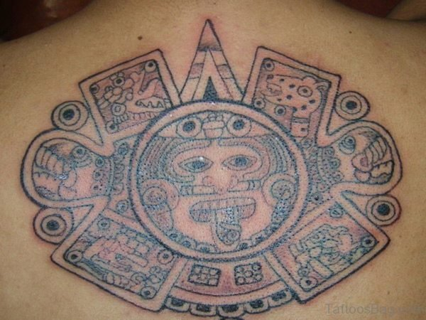 Outstanding Aztec Tattoo On Back