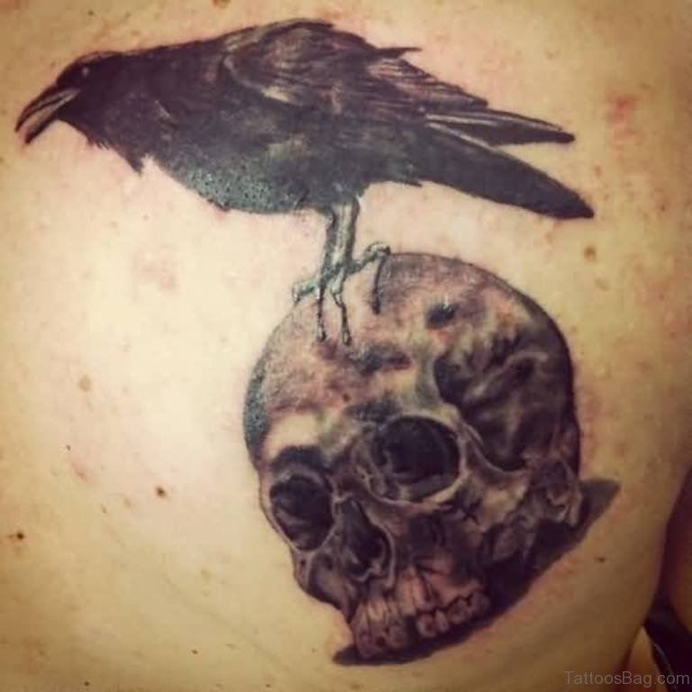 38 Top Crow Tattoos For Back