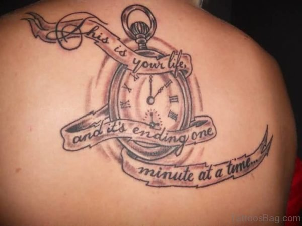 Outstanding Clock Tattoo