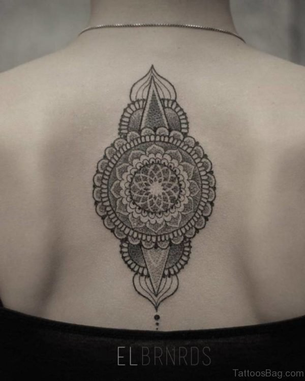 Outstanding Mandala Tattoo Design On Back