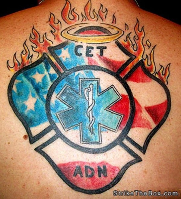Outstanding  Patriotic Tattoo