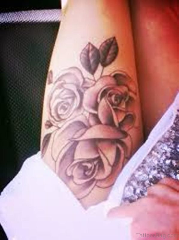 Outstanding Rose Tattoo