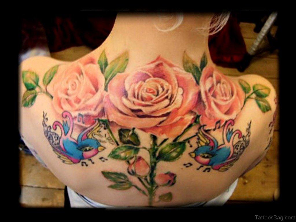 61 lovely rose tattoos for back for Tattoos of roses