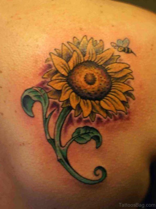 Outstanding Sunflower Tattoo