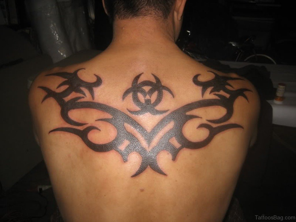 77 nice tribal tattoos designs for back for Tribal back tattoos