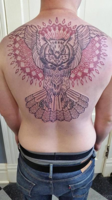 Owl And Mandala Tattoo