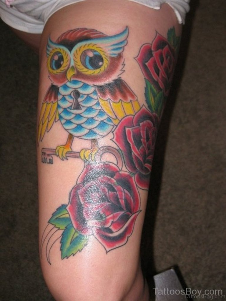 50 lovable owl on thigh