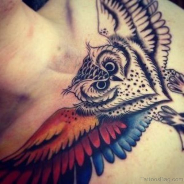 Owl Chest Tattoo Image
