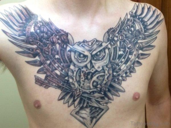 Owl Holding Arrow Tattoo