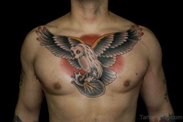 Owl Holding Heart Tattoo