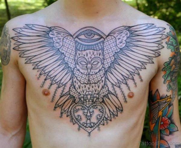 Owl With Eye Tattoo
