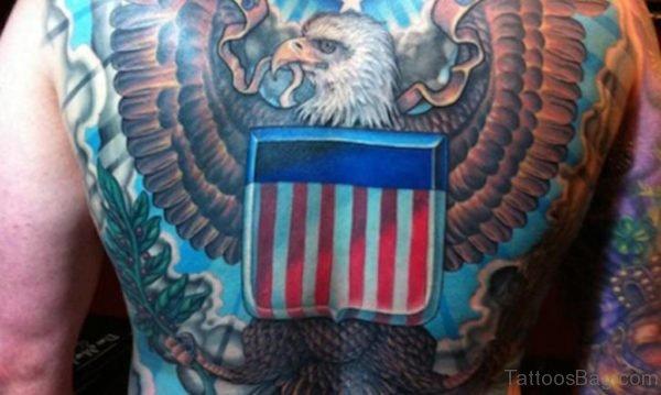 Patriotic Back Tattoo Design