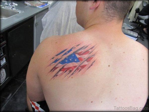Patriotic USA Flag Tattoo