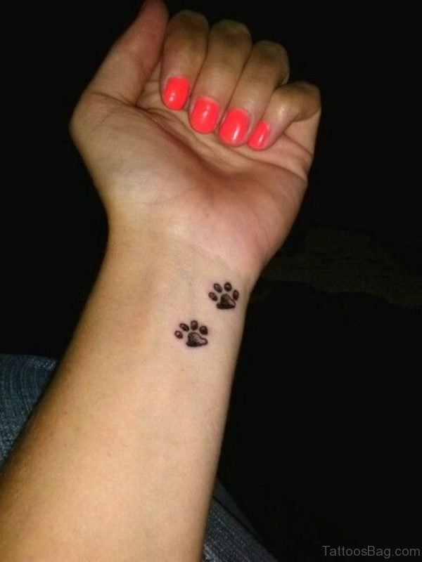 Paw Tattoo On Wrist