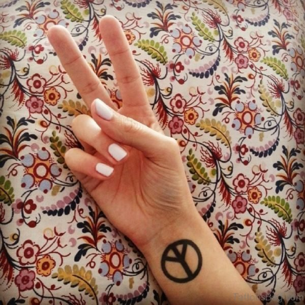 Peace Sign Tattoo