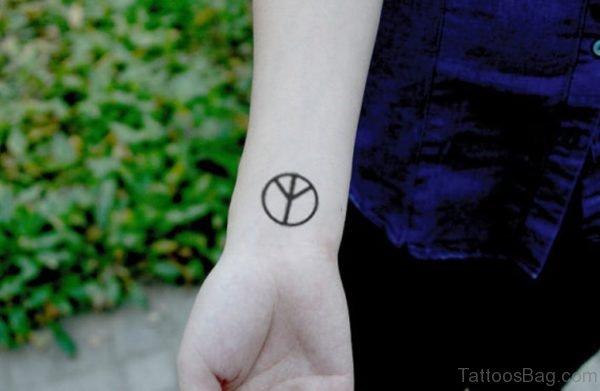 Peace Symbol Tattoo Design