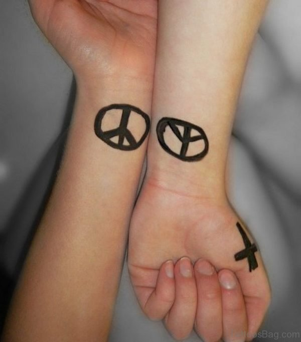Peace Symbol Tattoo