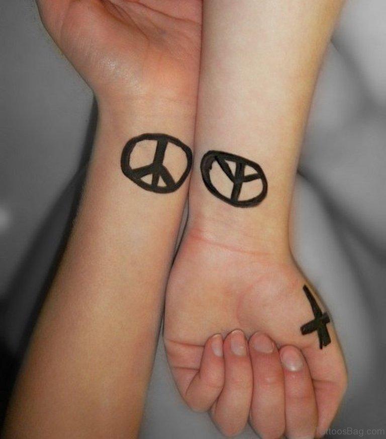 0e4e10dfc 73 Excellent Peace Tattoos For Wrist