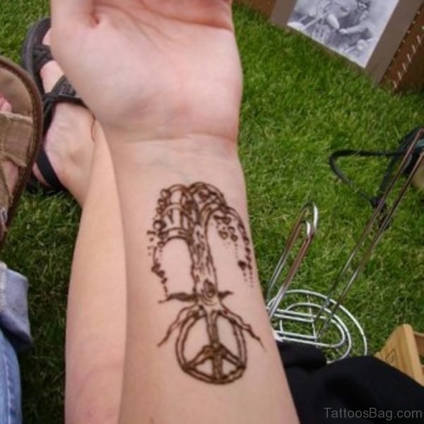 Peace Tree Tattoo
