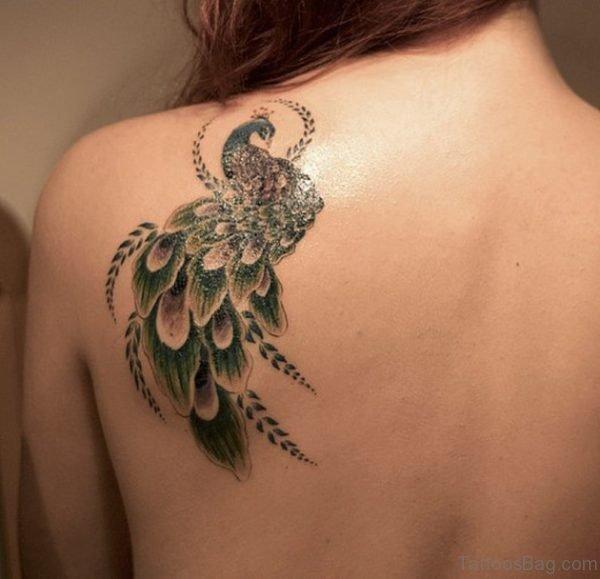 Peacock Bird Tattoo Design