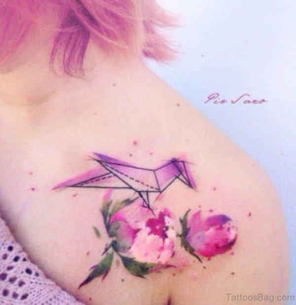 Peony Pink Vintage Tattoo