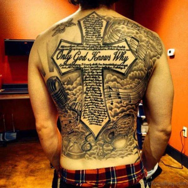 4020db059 97 Stunning Cross Tattoos For Back