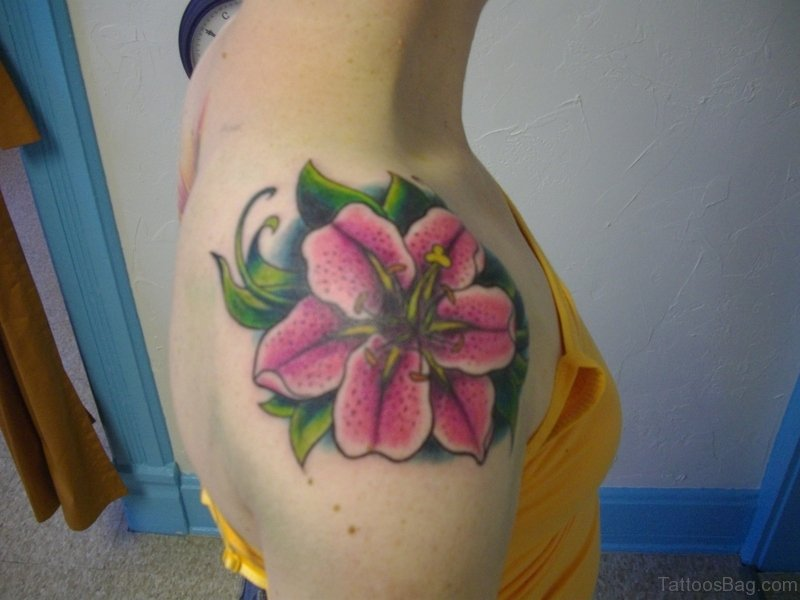 59 graceful lily tattoos for shoulder pink flower tattoo mightylinksfo
