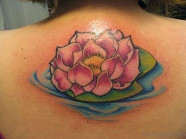 Pink Lotus Flower Tattoo