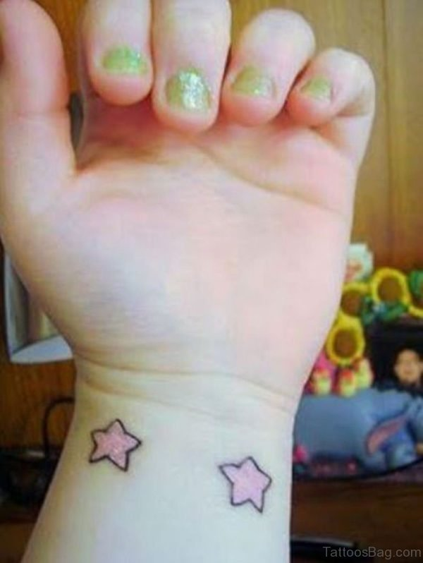 Pink Star Tattoo
