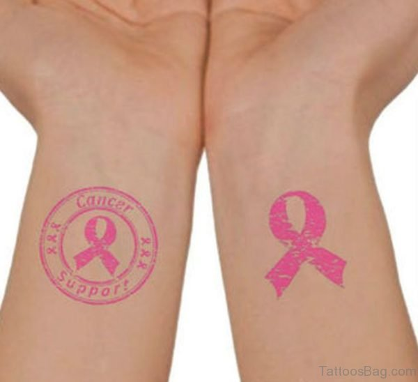 Pink Wording Tattoo