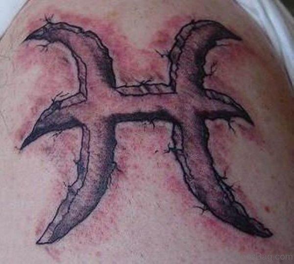 Pisces Tattoo Design On Shoulder