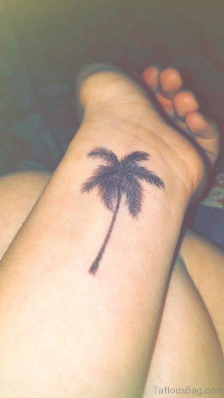 Palm Tree Tattoo On Wrist