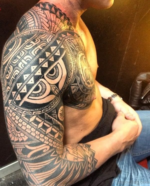 Polynesian Shoulder Tattoo Design