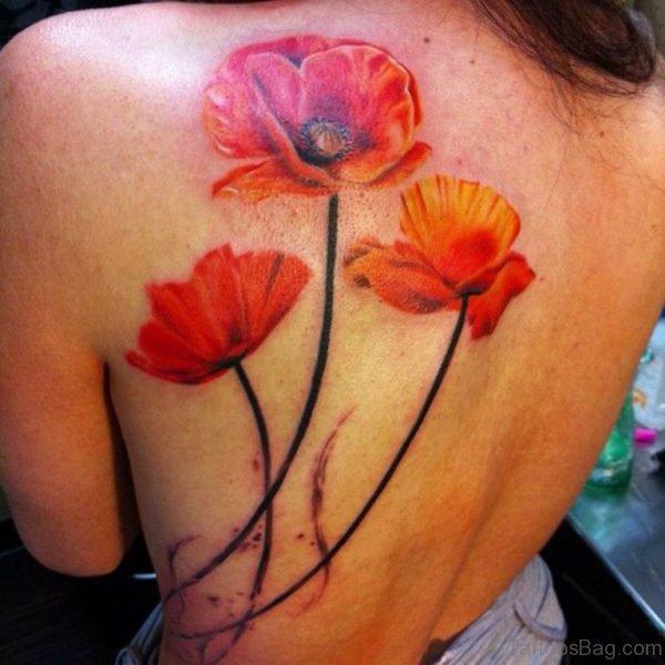 Poppy Flowers Tattoo