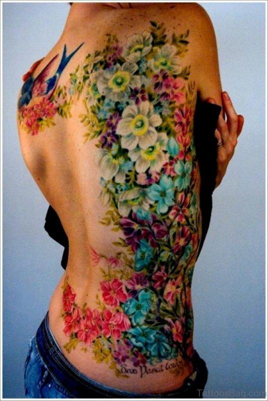 Poppy Tattoo Design On Back