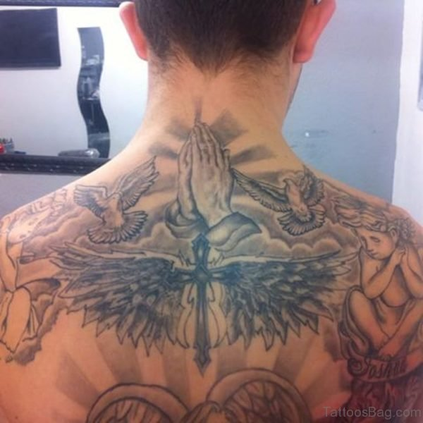 Nice Praying Hands Tattoo