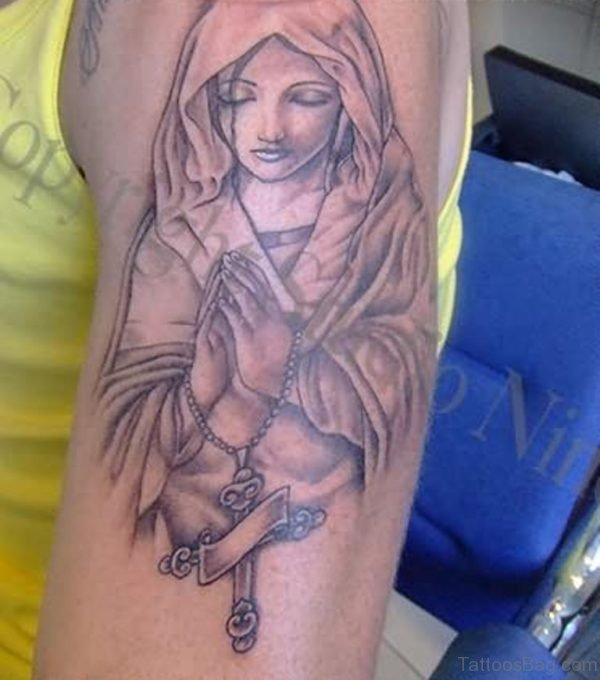 Praying Praying Shoulder Tattoo Design