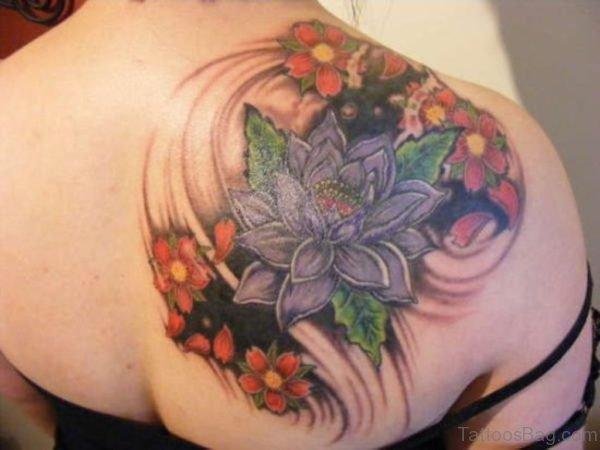Flower Tattoo Design On Back