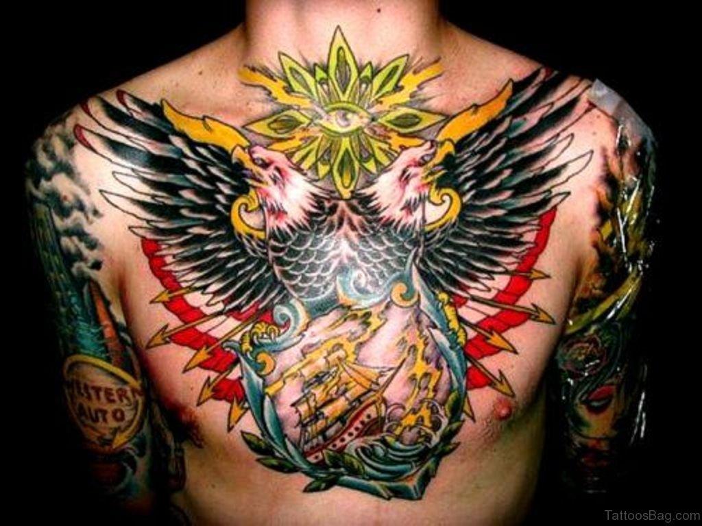 41 realistic eagle tattoos on chest. Black Bedroom Furniture Sets. Home Design Ideas
