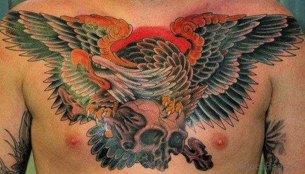 Pretty Eagle Tattoo Design