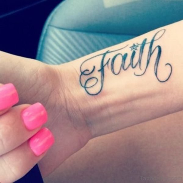 Pretty Faith Tattoo Design